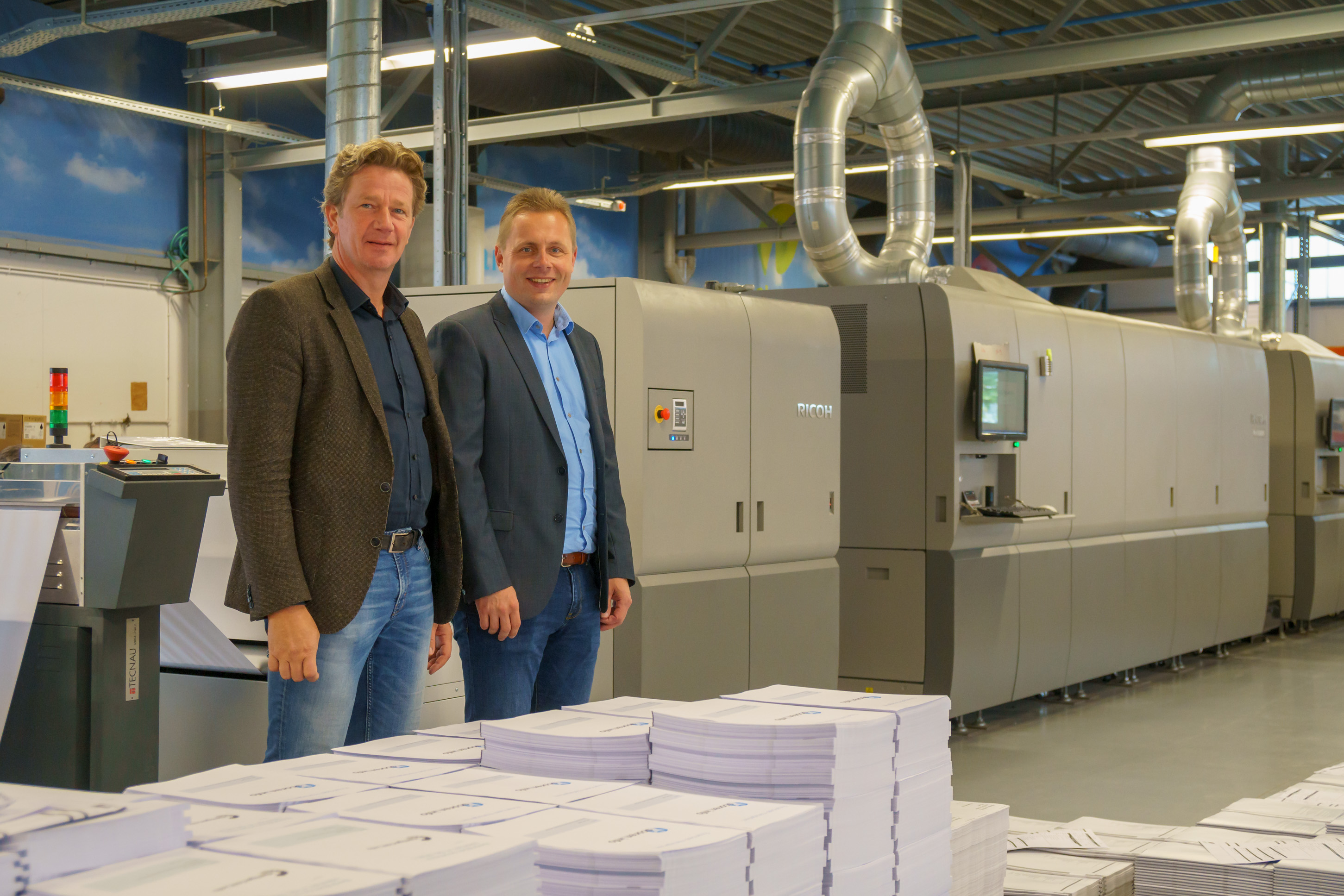 L-R Herman Verlind, director and co-owner of Zalsman and Frans Selles, director of Zalsman Innovative Print